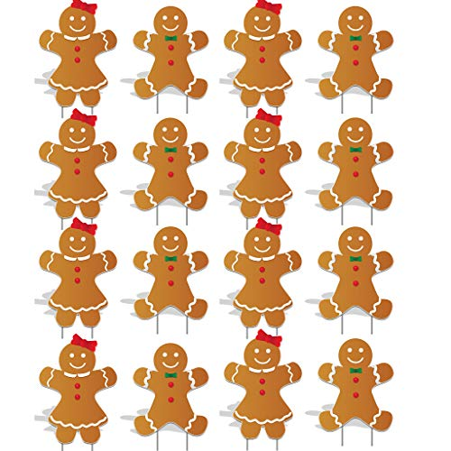 - Victory Store Yard Sign Outdoor Lawn Decorations: Gingerbread People Pathway Markers - Christmas Yard Decorations