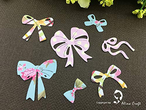 Labu Store Metal Cutting Dies Cut 7pc Bow Bowknot tie Ribbon Dies Scrapbooking Paper Craft Card Album Knife Blade Punch Craft Punch Bow Tie