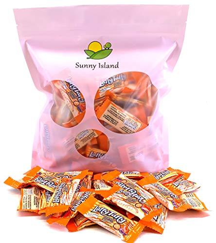 Sunny Island Bulk - Wonka Laffy Taffy Candy, Orange Sorbet Flavor, Individually Wrapped Fun Size Bar, 2 Pounds Bag -