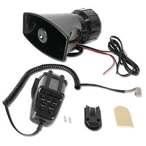 80 Watt Mic Pa Amplifier (AV SUPPLY Car Siren Speaker 12V 80W 7 Tone Sound Car Horns Vehicle Alarming Horn With Mic PA Speaker System Emergency Sound Amplifier)
