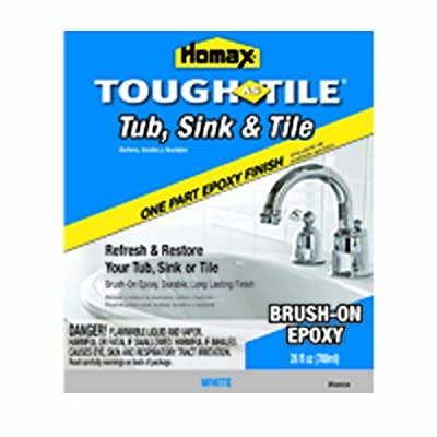 Homax 720773 Tub & Sink Brush-On One-Part Epoxy, 26-Ounce White from Homax