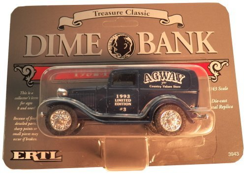 Ford 1932 Panel - 1932 Ford Panel Dime Bank Truck - Blue Limited Edition #3 by Agway