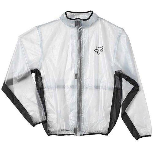 Fox Racing MX Fluid Jacket Men's Off-Road Motorcycle Rain Gear - Clear / Medium