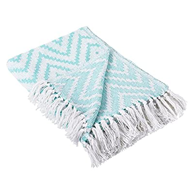 DII 100% Cotton Chevron Herringbone Throw for Indoor/Outdoor Use Camping BBQ's Beaches Everyday Blanket -  - blankets-throws, bedroom-sheets-comforters, bedroom - 51zSkCTif1L. SS400  -