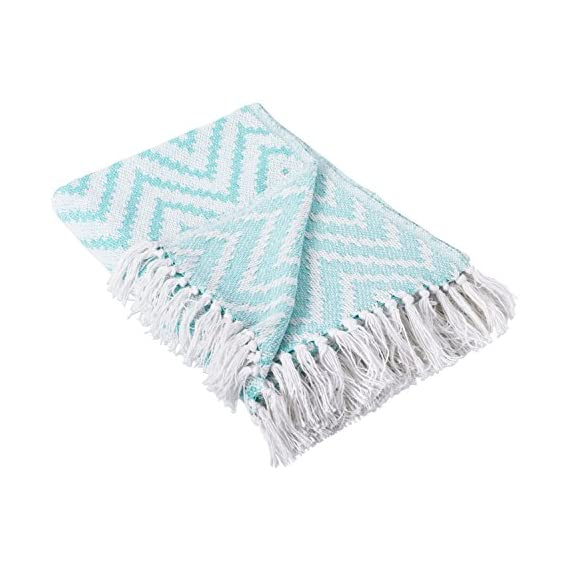 DII 100% Cotton Chevron Herringbone Throw for Indoor/Outdoor Use Camping BBQ's Beaches Everyday Blanket -  - blankets-throws, bedroom-sheets-comforters, bedroom - 51zSkCTif1L. SS570  -
