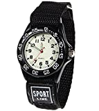 : Wdnba Kids Outdoor Sports Children's Waterproof Wrist Watch 3D Watches for Boy Girl -Black