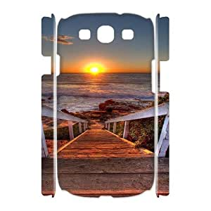 Samsung Galaxy S3 I9300 Beautifui sunset 3D Art Print Design Phone Back Case DIY Hard Shell Protection FG044006