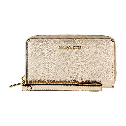 Michael Kors Mercer Large Metallic Leather Smartphone Wristlet ()