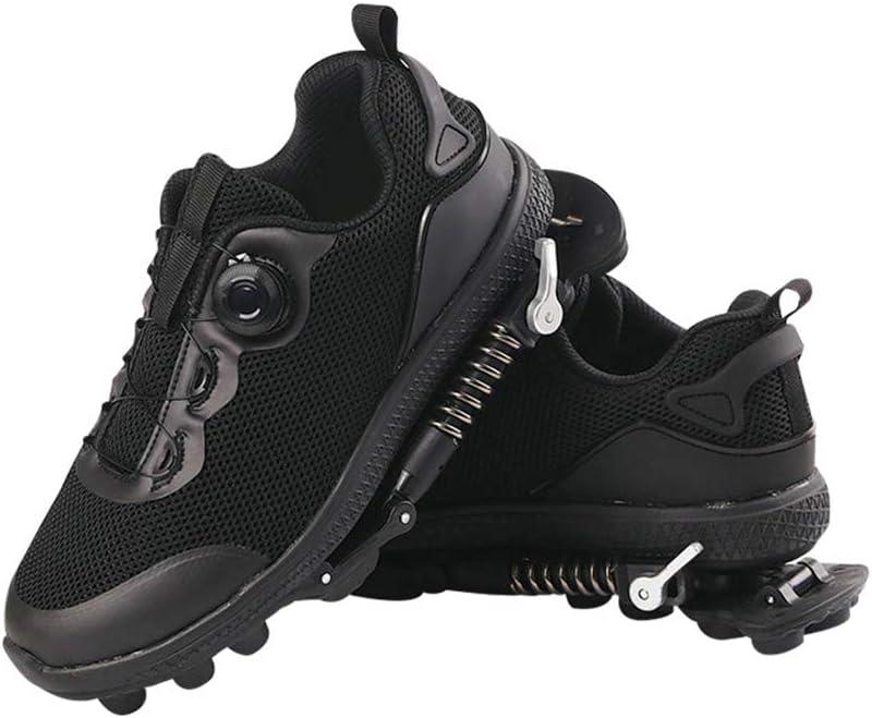 Dr.Taylor Primavera Mecánica de Los Zapatos Corrientes, Pista y Campo Zapatos con Muelles de Acero y Alambre Cordones de Los Zapatos, a Pie y en Modo Ajustable Correr: Amazon.es: Deportes y aire