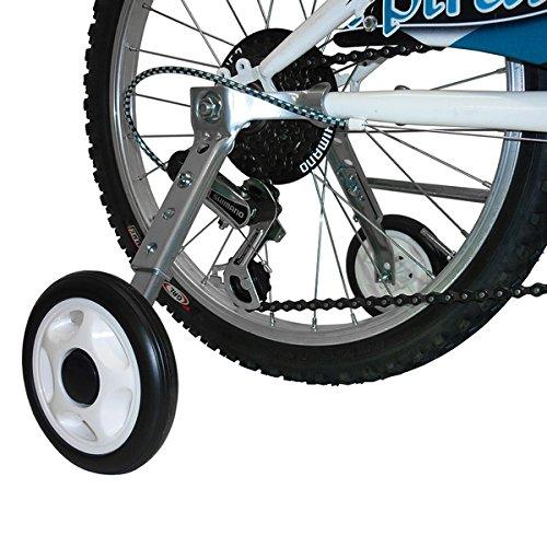 MV-TEK Ruedas stabilizzatrici Ajustables 16–20para Bicicleta con Cambio (Ruedas Estabilizadores)