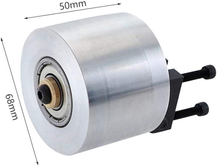 XINGJIJIJIA Easy Belt Grinder Wheel Aluminum Alloy Bearing Driving Wheel For Sanding Machine Woodworking DIY Tool variable (Color : Silver) Silver