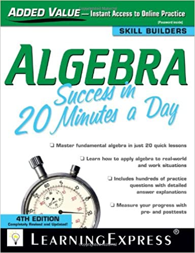 Algebra Success In 20 Minutes A Day Pdf