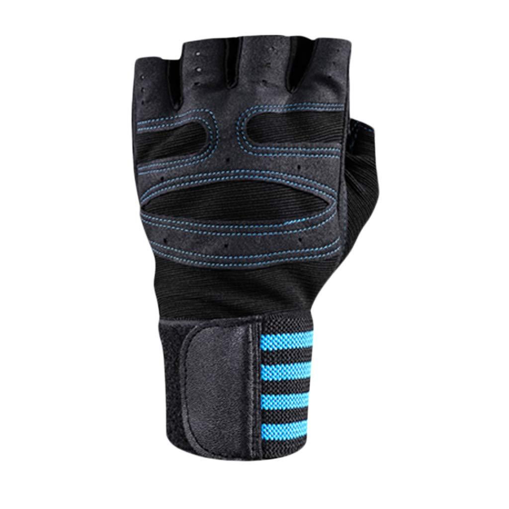M, White Detrade Reiten Sport Fitness Berg Fahrrad rutschfest Handschuh Mountainbike Halbfinger-Armband Anti-Rutsch-Handschuhe