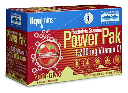 Electrolyte Stamina Power Pak Raspberry Trace Minerals, 30 Packet