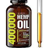 Hemp Oil 400,000 Extra Efficacy - Made in The USA - 100% Natural & Safe Hemp Oil - Non-GMO - Ideal Omega 3, 6, 9 Balance