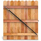 True Latch Telescopic Fully Adjustable Gate Brace - Wood Privacy Fence Anti Sag Gate Kit - Extends to 8' Feet - Gate Hardware Kit for Outdoor Yard Wooden Fence Gates, 1 USA Made PRO Contractor Grade