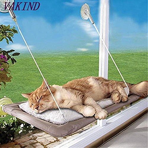 Basking Cat (GreenSun(TM) 20KG Cat Basking Window Hammock Perch Cushion Bed Hanging Shelf Seat Great Mounted 1pc for multiple cats of household)