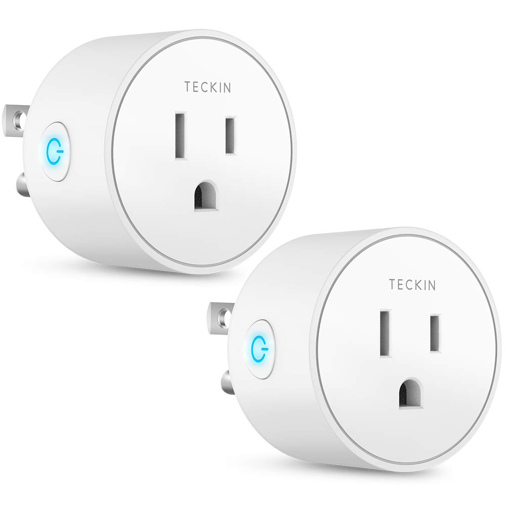 Smart Plug Works with Alexa Google Assistant IFTTT for Voice Control, Teckin Mini Smart Outlet Wifi Socket with Timer Function, No Hub Required, FCC ETL Certified,OnlySupports2.4GHzNetwork by T TECKIN