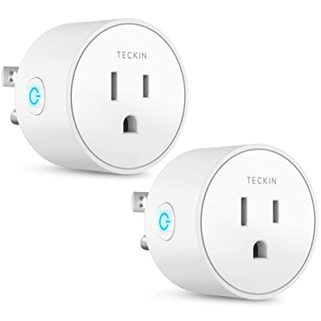 Smart Plug Works with Alexa Google Assistant IFTTT for Voice Control, Teckin Mini Smart Outlet Wifi Socket with Timer Function, No Hub Required, FCC ETL Certified,Only Supports 2.4GHz Network