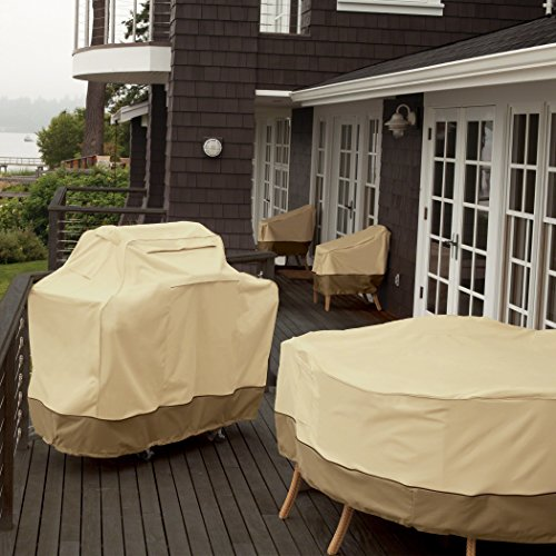 Classic Accessories 73912 Veranda Grill Cover - Durable BBQ Cover with Heavy-Duty Weather Resistant Fabric, Medium, 58-Inch
