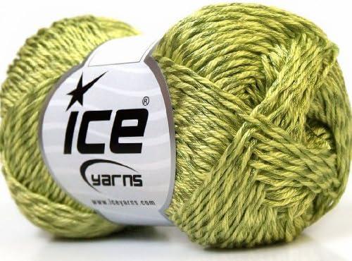 Lot de 4 x 100 gr madejas de hilos Tena (50% algodón) mano tejer hilo verde: Amazon.es: Juguetes y juegos