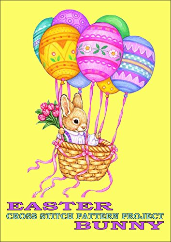 Easter Bunny Cross Stitch Pattern Project: Fun and Easy Needlework Design - Easter Embroidery Design