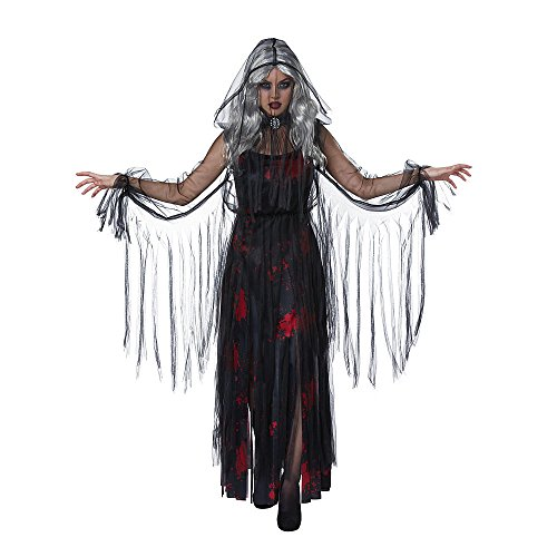 [Totally Ghoul Bloody Mary Costume, Women's size Large, for sizes 8-14] (Bloody Mary Costume)