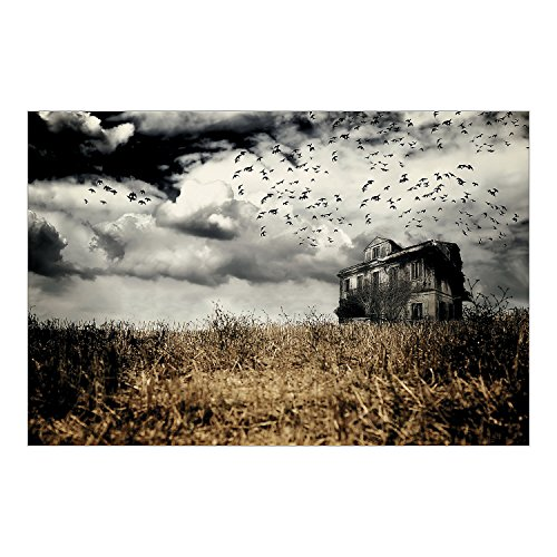 Halloween Party Decoration Haunted Farmhouse Backdrop Photo Mural (Halloween Haunted House Pictures)