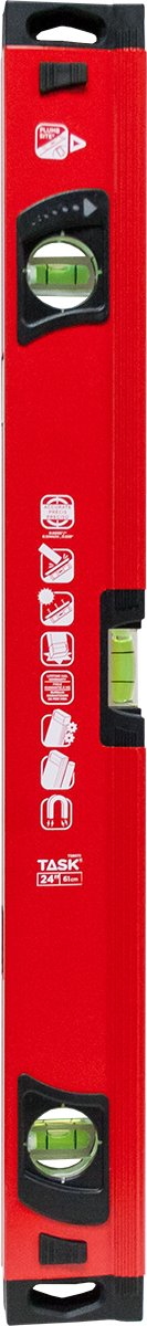 Task Tools T58075 Magnetic Heavy Duty Box Beam Level with Plumb Site, 24'' by Task Tools (Image #1)