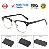 Teddith Blue Light Blocking Glasses for Computer Blocking UV Headache Anti Eye Strain Clear Lens Men/Women Black