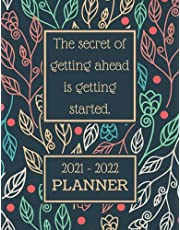 Planner 2021-2022: Academic Monthly Weekly Planner September 2021 To July 2022
