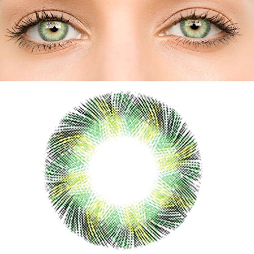 A Pair of Women Multi-Color Colored Cute Charm and Attractive Fashion Contact Lenses Cosmetic Makeup Eye Shadow (Pattern4)