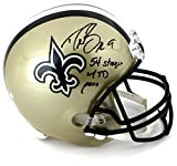 """Drew Brees Signed New Orleans Saints Riddell Full Size NFL Helmet With """"54 Straight W/ TD Pass"""" Inscription"""