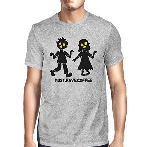 hombro 365 un La solo corta de camiseta caf tener hombre con debe manga para wHRq0FR8