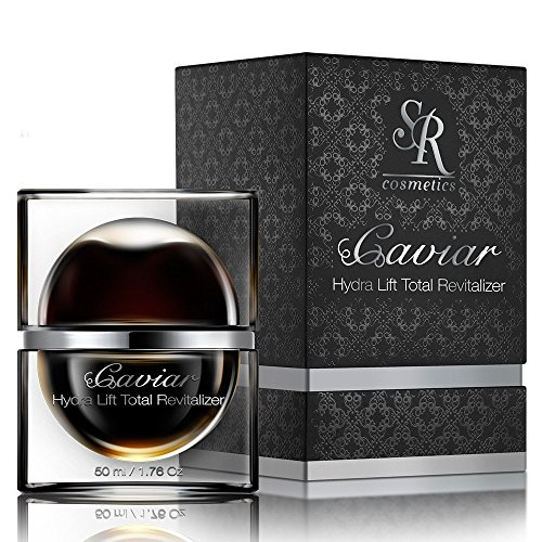 SR Cosmetics EXCLUSIVE CAVIAR Collection - Hydra Lift Total Revitalizer Moisturizing Cream - Rich in Essential Vitamins Minerals Hyaluronic Acid & Caviar Extract - Hydrates Nourish (Lifting Revitalizer)