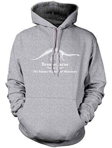 (Manateez Brontosaurus Thunder Lizard Science Museum Of Minnesota Hoodie XL Heather Gray)