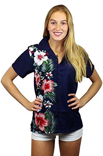 Funky Hawaiian Blouse, VHO-Wedding, blue, (Womens Hawaiian Shirts)
