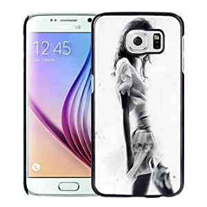 New Personalized Custom Designed For Samsung Galaxy S6 Phone Case For Black and White Long Hair Girl Phone Case Cover