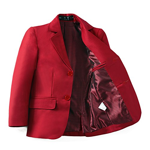 Yuanlu Boys Formal Dresswear Suits Blazer Jacket Red Size 8