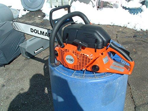 """Dolmar PS-6100 61cc 20"""" bar with big 3/8th pitch chisel chain"""