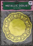 (US) 10 Gold Metallic Paper Doilies - 7.5 Inches - Round