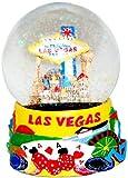 Las Vegas Glitter Snow Globe - Yellow 65MM