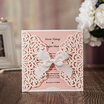 amazon com jofanza wedding invitations white square laser cut cards