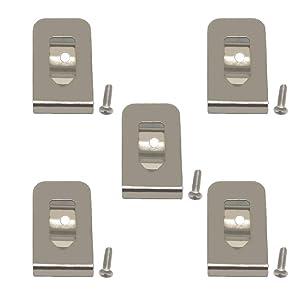 Replacement Belt Clip Hook for Dewalt N268241 Fit for 20V Max Tools DCD980 DCD985 DCD980L2 DCD985L2 (5 Pack)