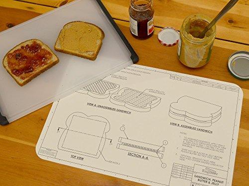 Engineering Blueprint Placemat Set