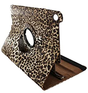 360 Degrees Rotating Stand Leopard Design Leather Case Cover Skin for Samsung Galaxy Tab 2 7 Inch P3100