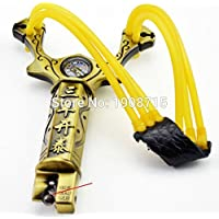 Lista Lista074 Compass Metal Slingshot Shot Brace Catapult with Rubber Band