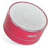 Unitek Portable Bluetooth Speaker, Aluminum Wireless Bluetooth Speaker V4.0 with Micro SD Slot, FM Radio & Built-in Mic Compatible Speakerphone Function (Pink)