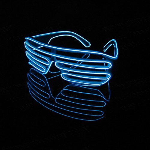EL wire Led Glasses Colorful Glowing Shutter Shaped Glasses For Dance DJ,Party Decorative