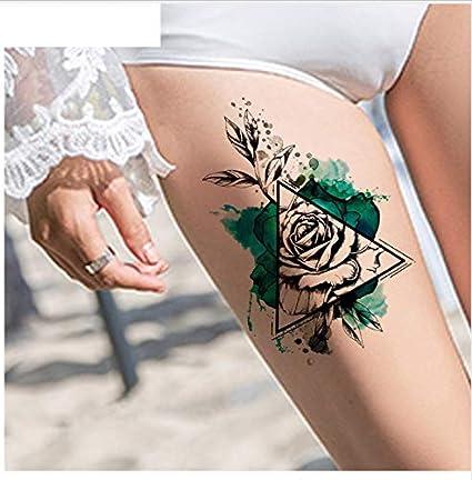 ruofengpuzi 3D Etiqueta Engomada del Tatuaje Temporal Femenino ...